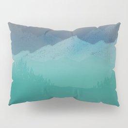 Ombre Mountainscape (Blue, Aqua) Pillow Sham