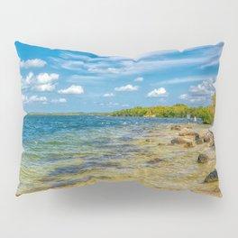 Desktop Wallpapers Florida USA Key Largo Nature Bay stone Coast Stones Pillow Sham