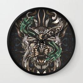 Moth and tiger Wall Clock