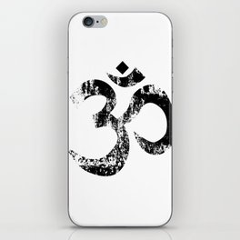 Om Rubber Stamp iPhone Skin