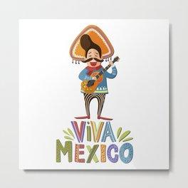 Mexico - Viva Mexico Singer - light Metal Print