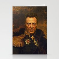 christopher walken Stationery Cards featuring Christopher Walken - replaceface by replaceface