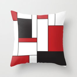 Geometric Abstract - Rectangulars Colored Throw Pillow