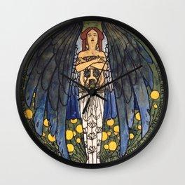 """Koloman (Kolo) Moser """"The art"""" Wall Clock"""