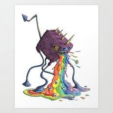 Barf the Rainbow Art Print