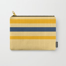 Yellow  blue  stripes  horizontal Carry-All Pouch