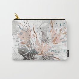 Tropical Silver Carry-All Pouch