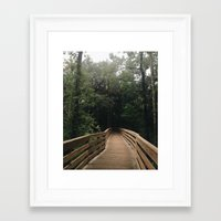 hiking Framed Art Prints featuring Hiking by Lynette
