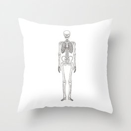 Human body skeleton Throw Pillow