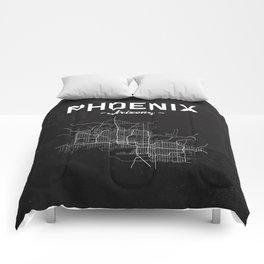 Phoenix, Arizona - b/w Comforters