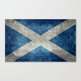 Flag of Scotland, Vintage retro style Canvas Print