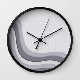 Pantone Lilac Gray Soothing Waves with Canvas Texture Wall Clock