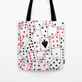 Random Playing Card Background Tote Bag