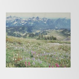 Wildflower Meadow Throw Blanket