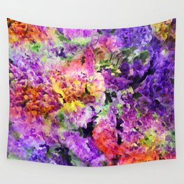 Elegant Rainbow Floral Abstract Wall Tapestry