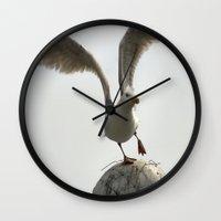 wings Wall Clocks featuring Wings by Avigur