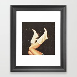 These Boots - Space Framed Art Print