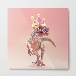 03_Allosaurus with crown Metal Print