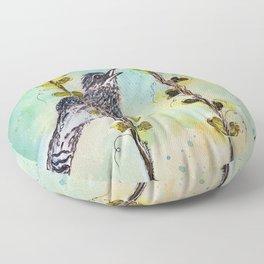 Cactus Wren-Barbara Chichester Floor Pillow