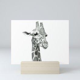 Drawing Of A Smiling Giraffe Mini Art Print