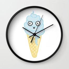 Blue Icecream Wall Clock
