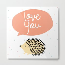 Hedgegog love Metal Print