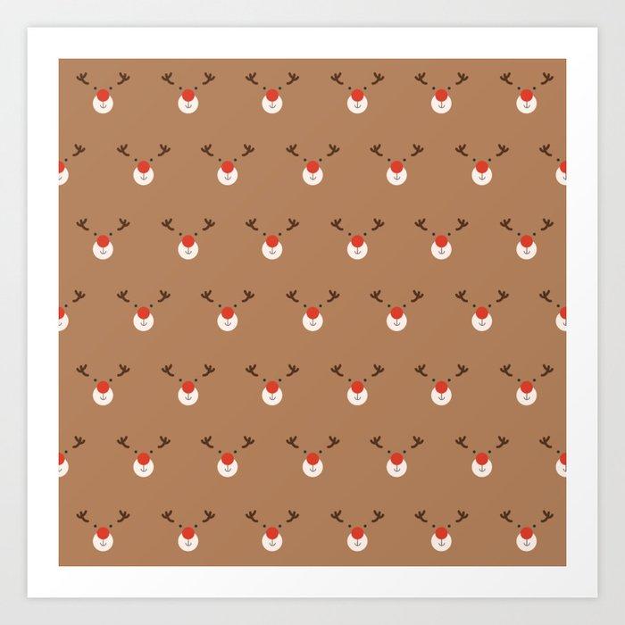 Rudolph Clones (Patterns Please) Art Print