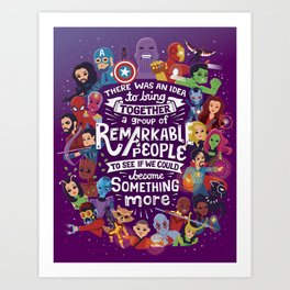 Remarkable People Art Print