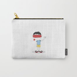 Blindfolded happiness: Childhood Carry-All Pouch