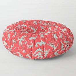 Moonchild TribalCayenne Red Floor Pillow