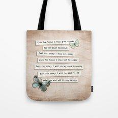 Reiki Principles No.2 Tote Bag