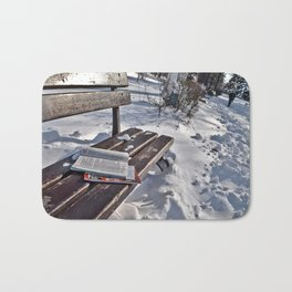 Winter in park Bath Mat