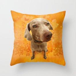 PARKER POSEY (tang) puffy cloud series Throw Pillow