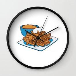 Latkes Please Funny Hanukkah Jewish Holiday Food Humor Gift Cool Design Wall Clock