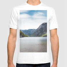 Lake Bohinj, Slovenia White Mens Fitted Tee MEDIUM