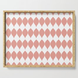 Geometric Pink Vector Leaves & Petals Serving Tray