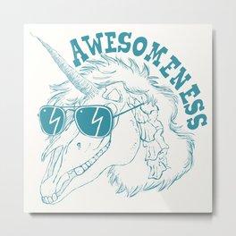 Unicorn Awesomeness Metal Print