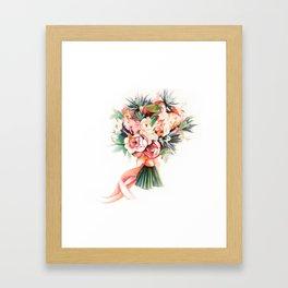 Wedding bouquet Framed Art Print