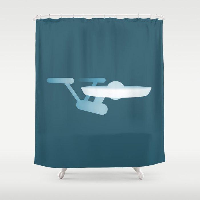 Star Trek USS Enterprise Shower Curtain