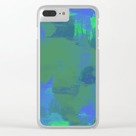 A Different View Of Earth - Abstract, textured, globe painting Clear iPhone Case