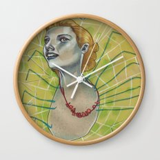SPIDER WITH NECKLACE Wall Clock