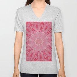 Fluid Nature - Blossoming Pink Unisex V-Neck