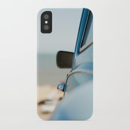 The blue car iPhone Case