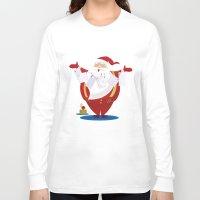 santa Long Sleeve T-shirts featuring Santa by rusanovska