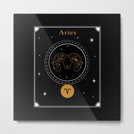 Aries Symbol | Zodiac Sign Art Metal Print