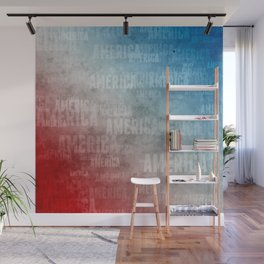 America Text Graphic Wall Mural