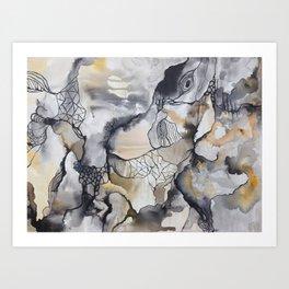 Cliffs of Rust + Ash Art Print