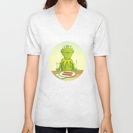 Kermit Loves Facon Unisex V-Neck