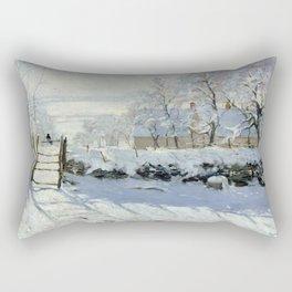 Claude Monet - The Magpie Rectangular Pillow