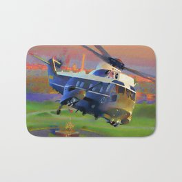 Marine One Helicopter Bath Mat